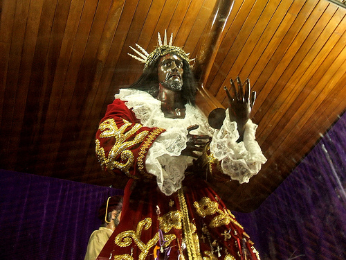 Black Christ in Portobelo Panama