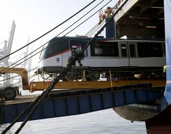 First Panama Metro Car Ships